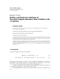 "báo cáo hóa học:""  Research Article Positive and Dead-Core Solutions of Two-Point Singular Boundary Value Problems with φ-Laplacian"""