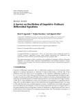 "báo cáo hóa học:""   Review Article A Survey on Oscillation of Impulsive Ordinary Differential Equations"""