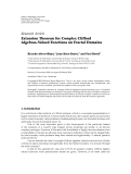 "báo cáo hóa học:""  Research Article Extension Theorem for Complex Clifford Algebras-Valued Functions on Fractal Domains"""