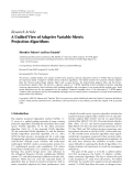 "Báo cáo hóa học: ""  Research Article A Unified View of Adaptive Variable-Metric Projection Algorithms"""