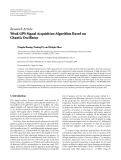 "Báo cáo hóa học: ""Research Article Weak GPS Signal Acquisition Algorithm Based on Chaotic Oscillator"""