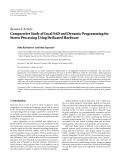 "Báo cáo hóa học: ""Research Article Comparative Study of Local SAD and Dynamic Programming for Stereo Processing Using Dedicated Hardware"""