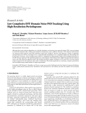 "Báo cáo hóa học: "" Research Article Low Complexity DFT-Domain Noise PSD Tracking Using High-Resolution Periodograms"""