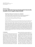 "Báo cáo hóa học: ""Research Article Securing Collaborative Spectrum Sensing against Untrustworthy Secondary Users in Cognitive Radio Networks"""