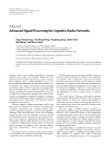 """Báo cáo hóa học: """" Editorial Advanced Signal Processing for Cognitive Radio Networks"""""""