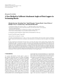 "Báo cáo hóa học: ""Research Article A New Method to Calibrate Attachment Angles of Data Loggers in Swimming Sharks"""