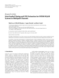 "Báo cáo hóa học: "" Research Article Joint Symbol Timing and CFO Estimation for OFDM/OQAM Systems in Multipath Channels"""