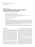 "Báo cáo hóa học: "" Research Article A Flexible and Efficient Key Distribution Scheme for Renewable Wireless Sensor Networks"""