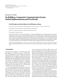 "Báo cáo hóa học: ""Research Article On Building a Cooperative Communication System: Testbed Implementation and First Results"""