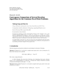 """Báo cáo hóa học: """" Research Article Convergence Comparison of Several Iteration Algorithms for the Common Fixed Point Problems"""""""