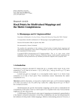 """Báo cáo hóa học: """" Research Article Fixed Points for Multivalued Mappings and the Metric Completeness"""""""