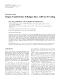 "Báo cáo hóa học: ""Research Article Unequal Error Protection Techniques Based on Wyner-Ziv Coding"""