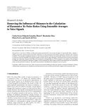 "Báo cáo hóa học: "" Research Article Removing the Influence of Shimmer in the Calculation of Harmonics-To-Noise Ratios Using Ensemble-Averages in Voice Signals"""