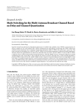 "Báo cáo hóa học: ""Research Article Mode Switching for the Multi-Antenna Broadcast Channel Based on Delay and Channel Quantization"""