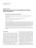 "báo cáo hóa học:""   Research Article Reliable Event Detectors for Constrained Resources Wireless Sensor Node Hardware"""