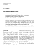 "báo cáo hóa học:""  Research Article Multicore Software-Defined Radio Architecture for GNSS Receiver Signal Processing"""