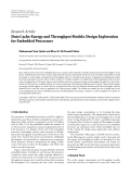 """báo cáo hóa học:""""  Research Article Data Cache-Energy and Throughput Models: Design Exploration for Embedded Processors"""""""