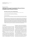 "báo cáo hóa học:""  Research Article Audio Query by Example Using Similarity Measures between Probability Density Functions of Features"""