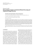"báo cáo hóa học:""   Research Article Human Motion Analysis via Statistical Motion Processing and Sequential Change Detection"""