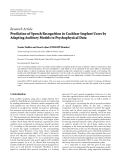 "báo cáo hóa học:""   Research Article Prediction of Speech Recognition in Cochlear Implant Users by Adapting Auditory Models to Psychophysical Data"""