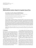 """báo cáo hóa học:""""   Research Article Multiresolution Analysis Adapted to Irregularly Spaced Data"""""""
