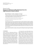 """báo cáo hóa học:""""  Research Article Progressive Refinement of Beamforming Vectors for High-Resolution Limited Feedback"""""""