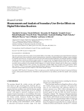 "báo cáo hóa học:""  Research Article Measurements and Analysis of Secondary User Device Effects on Digital Television Receivers"""