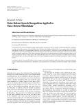 "báo cáo hóa học:""   Research Article Noise Robust Speech Recognition Applied to Voice-Driven Wheelchair"""