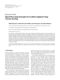 "báo cáo hóa học:""   Research Article Signal Processing Strategies for Cochlear Implants Using Current Steering"""