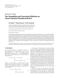 "báo cáo hóa học:""   Research Article New Inequalities and Uncertainty Relations on Linear Canonical Transform Revisit"""