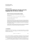 """Báo cáo hóa học: """" Research Article A Continuation Method for Weakly Contractive Mappings under the Interior Condition"""""""