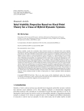"""Báo cáo hóa học: """"Research Article Total Stability Properties Based on Fixed Point Theory for a Class of Hybrid Dynamic Systems"""""""