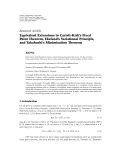 """Báo cáo hóa học: """"Research Article Equivalent Extensions to Caristi-Kirk's Fixed Point Theorem, Ekeland's Variational Principle, and Takahashi's Minimization Theorem"""""""