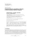 "Báo cáo hóa học: ""Research Article Asymptotic Behavior of Equilibrium Point for a Class of Nonlinear Difference Equation"""
