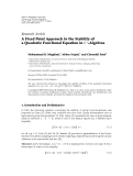 "Báo cáo hóa học: ""Research Article A Fixed Point Approach to the Stability of a Quadratic Functional Equation in C∗ -Algebras"""
