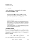 "Báo cáo hóa học: "" Research Article On the Identities of Symmetry for the ζ-Euler Polynomials of Higher Order"""