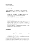 "Báo cáo hoa học: "" Research Article On Boundedness of Solutions of the Difference Equation xn 1 pxn qxn−1 / 1 xn for q  1 p  1"""