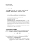 "Báo cáo hoa học: "" Research Article Convergence Results on a Second-Order Rational Difference Equation with Quadratic Terms"""