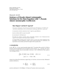 "Báo cáo hóa học: "" Research Article Existence of Pseudo Almost Automorphic Solutions for the Heat Equation with Sp -Pseudo Almost Automorphic Coefficients"""