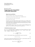 "Báo cáo hóa học: "" Research Article Congruences for Generalized q-Bernoulli Polynomials"""