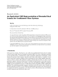 "Báo cáo hóa học: "" Research Article An Equivalent LMI Representation of Bounded Real Lemma for Continuous-Time Systems"""
