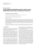 """Báo cáo hóa học: """" Research Article Format-Compliant JPEG2000 Encryption in JPSEC: Security, Applicability, and the Impact of Compression Parameters"""""""