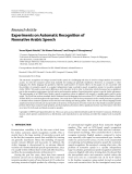 """Báo cáo hóa học: """" Research Article Experiments on Automatic Recognition of Nonnative Arabic Speech"""""""