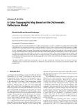 """Báo cáo hóa học: """"Research Article A Color Topographic Map Based on the Dichromatic Reflectance Model"""""""