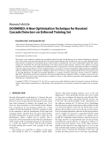 """Báo cáo hóa học: """"Research Article DOOMRED: A New Optimization Technique for Boosted Cascade Detectors on Enforced Training Set"""""""