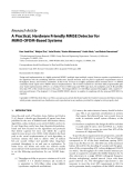 """Báo cáo hóa học: """"Research Article A Practical, Hardware Friendly MMSE Detector for MIMO-OFDM-Based Systems"""""""