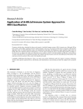 """Báo cáo hóa học: """"Research Article Application of Artificial Immune System Approach in MRI Classification"""""""