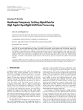 "Báo cáo hóa học: "" Research Article Nonlinear Frequency Scaling Algorithm for High Squint Spotlight SAR Data Processing"""