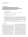"Báo cáo hóa học: "" Research Article A Minimax Mutual Information Scheme for Supervised Feature Extraction and Its Application to EEG-Based Brain-Computer Interfacing"""