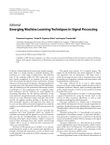 """Báo cáo hóa học: """" Editorial Emerging Machine Learning Techniques in Signal Processing"""""""